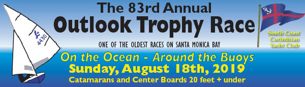 08.18.2019, Sunday – Outlook Trophy  Classes Invited: Dinghy –