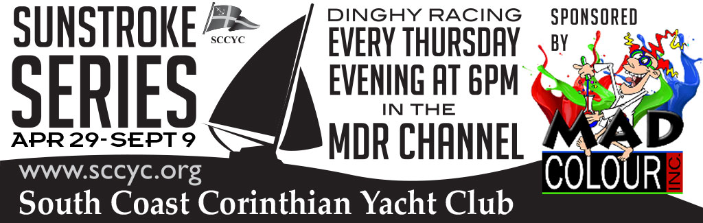 SCCYC Sunstroke Series-Dinghy racing in the exit channel